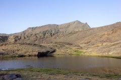 Mulhacén y Alcazaba desde Trevélez